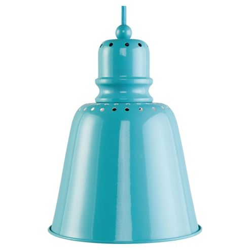 Tesco Lighting Betty Spun Metal Ceiling Light, Turquoise