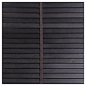 Wood Venetian Blind Black 180cm 35mm 160cm Drop