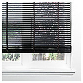 Wood Venetian Blind Black 60cm 35mm 210cm Drop