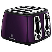 Russell Hobbs 18441 4 Slice Toaster - Purple with black accents