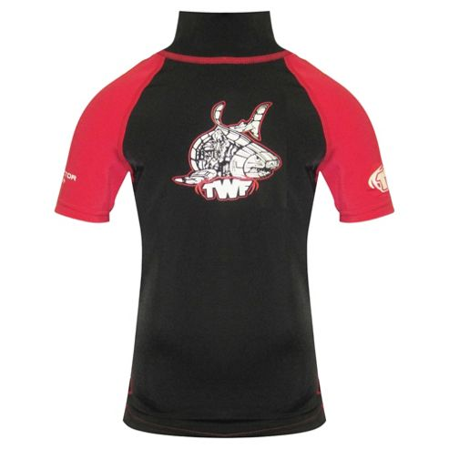 TWF UV Rash Vest Kids' Black/Red Large