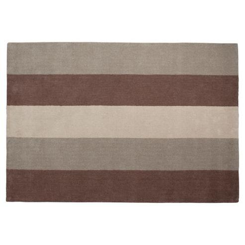 Tesco Rugs Vertical Stripe Rug Mocha 120X170Cm