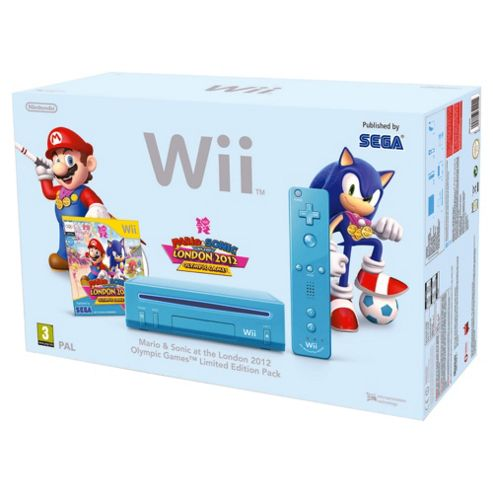 Wii Console (Blue) with Mario & Sonic at the London 2012 Olympic Games