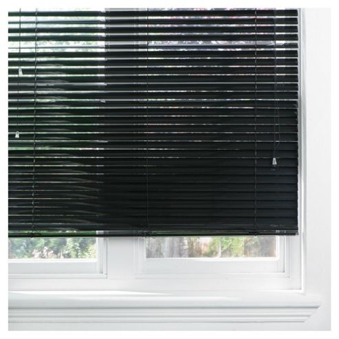 Aluminium Venetian Blind 120cm 35mm Black Gloss