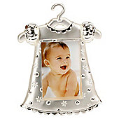"2 Tone Silver Plated Frame 2X3"" - Girls Dress"