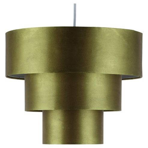 Louisa 3 Tier Drum Pendant Shade Olive