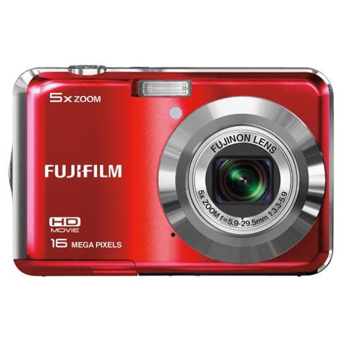 Fuji AX550 Digital Camera 2.7 LCD, Red