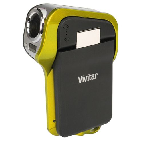 Vivitar DVR995WHD Waterproof Camcorder, Yellow