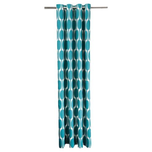 Tesco Retro Print Eyelet Curtains W168xL229cm (66x90