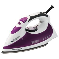 Morphy Richards 40754 Variable Steam Generator with Ceramic Plate - White/Maroon