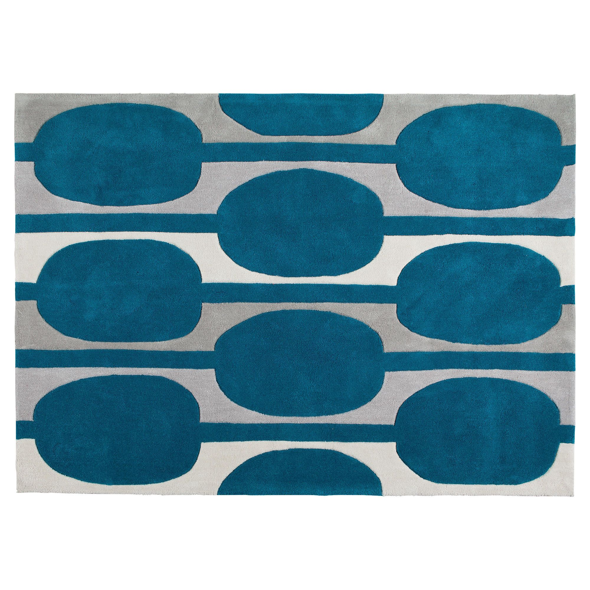 Tesco Rugs Retro Rug Teal 120x170cm Thousands Of Rugs