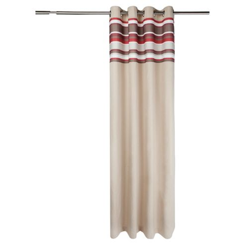Tesco Brighton Stripe Lined Eyelet Curtains W163xL183cm (64x72