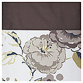 "Tesco Jasmine Blossom Lined Eyelet Curtains W168xL183cm (66x72""), Mocha"