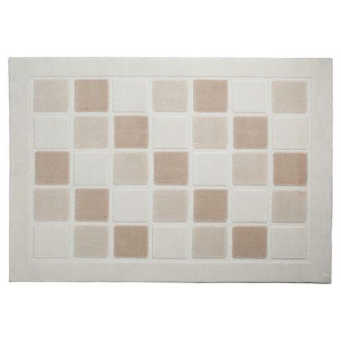 Tesco Rugs Squares Rug Cream 120X170Cm