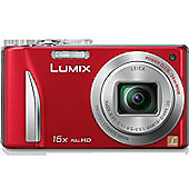 Panasonic TZ25 Digital Camera, Red, 12.1MP, 16x Optical Zoom, 3.0 inch LCD Screen