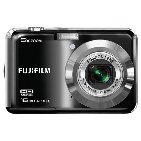 Fuji AX550 Digital Camera, Black, 16MP, 5x Optical Zoom, 2.7 inch LCD Screen