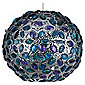 Tesco Lighting Moroccan Sphere Pendant Shade, Teal/Plum