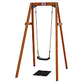 Plum Wooden Single Swing Set