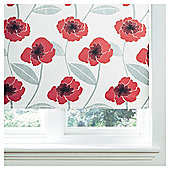 Poppy Lined Roman Blind 90x160cm Red