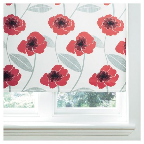 Poppy Lined Roman Blind 120x160cm Red