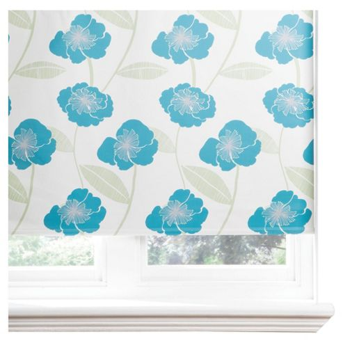Poppy Lined Roman Blind 60x120cm Teal