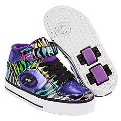 Heelys Purple and Black Multiprint X2 Cruz Skate Shoes - Size 1