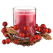 Tesco christmas wreath candle small red