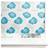 Poppy Lined Roman Blind 90x120cm Teal