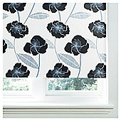 Poppy Lined Roman Blind 60x120cm Black