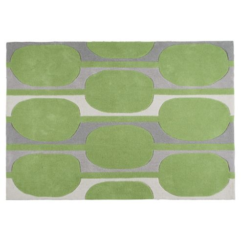 Tesco Rugs Retro Rug Green 120X170Cm