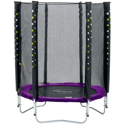 Plum Stardust Junior Trampoline & Enclosure