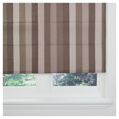 Hampton Stripe Lined Roman Blind 60x120cm Chocolate