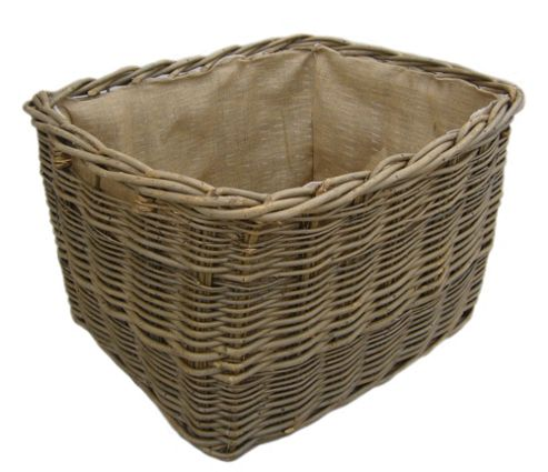 Buy Wicker Valley Extra Large Rectangular Lined Log Basket