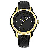 Karen Millen Ladies Leather Swarovski Crystal Watch KM105U