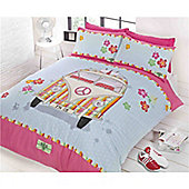 Rapport Rock N Roll Vee Dub Single Quilt Set Pink