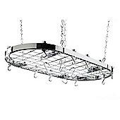 Hahn Oval Ceiling Rack in Chrome