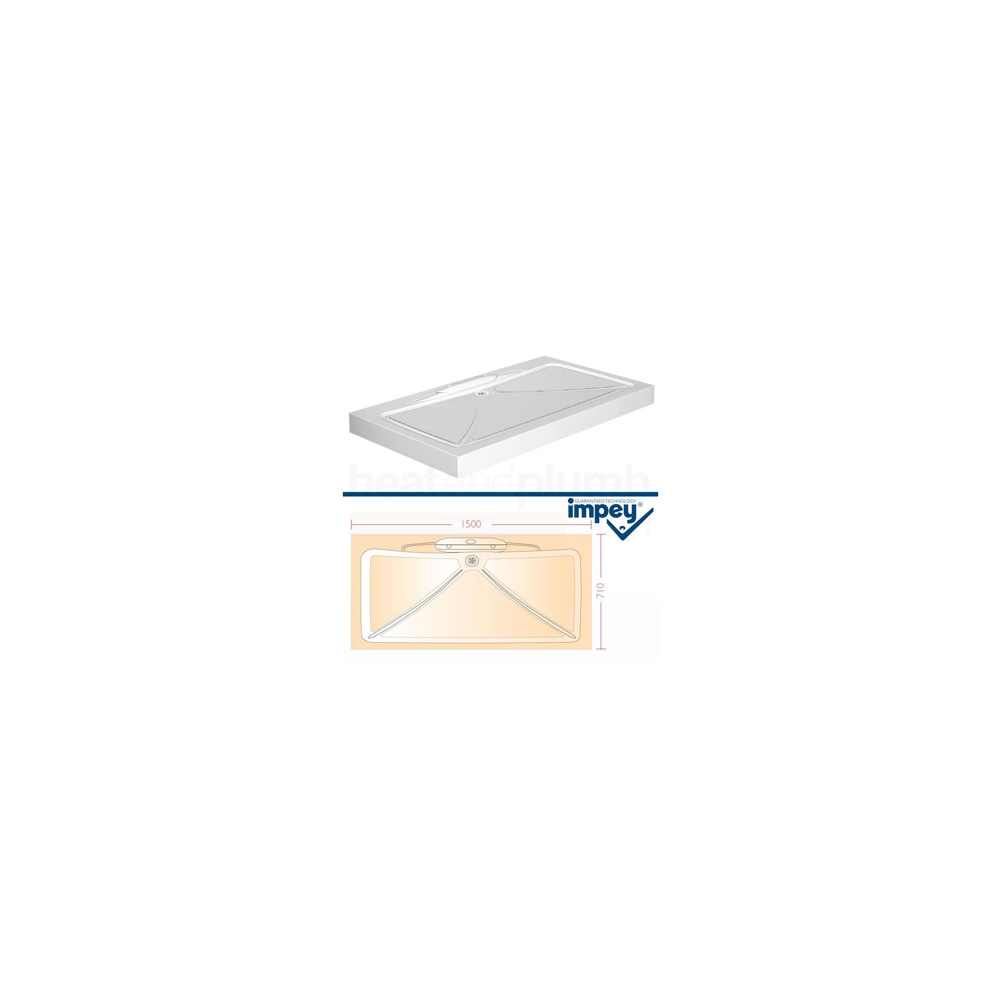 Impey Mendip Shower Tray 1500mm x 710mm at Tesco Direct