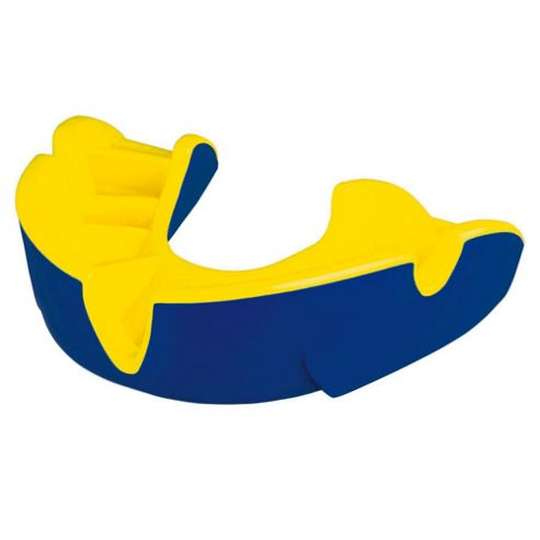 Opro Mouthguard Silver Dark Blue / Yelllow