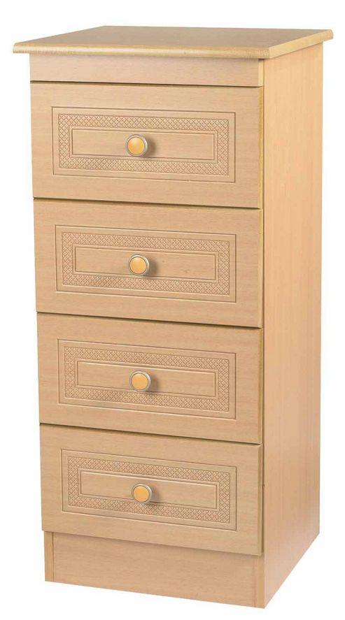 Welcome Furniture Corrib 4 Drawer Chest with Locker - Light Oak