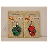 Spiderman and Hulk Mixed Key ring