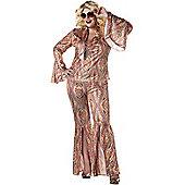 Women's DiscoLicious 70s Fancy Dress Costume (Plus Size)