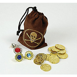 Bristol Novelty - Pirate Pouch with coins and jewellery