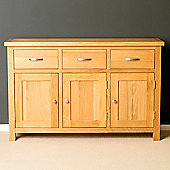 London Oak Large Sideboard - Light Oak