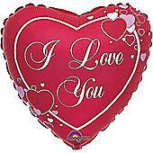 Valentines Balloons 18' Love Heart Script (each)