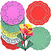 Coloured Paper Craft Doilies (Pack Of 120)