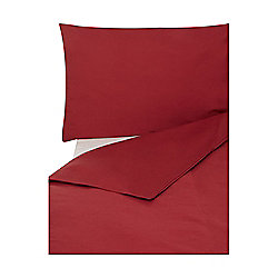 Egyptian Cotton Double Duvet Cover Deep Red