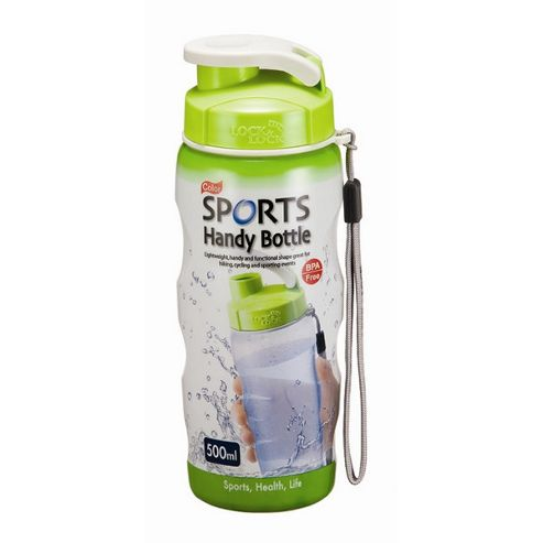 Lock & Lock 500ml Colour Sports Air Tight Handy Bottle with Carry Strap (Set of 2)