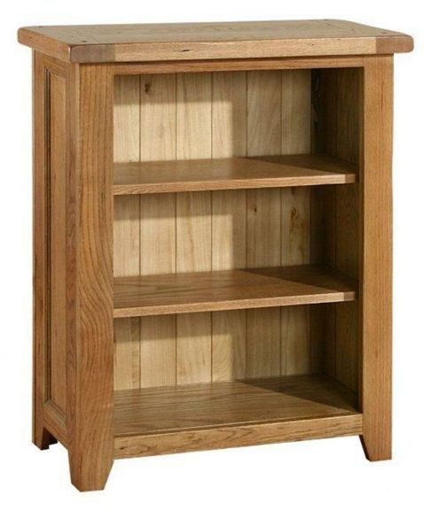 Kelburn Furniture Bordeaux Mini Bookcase in Medium Oak Stain and Satin Lacquer