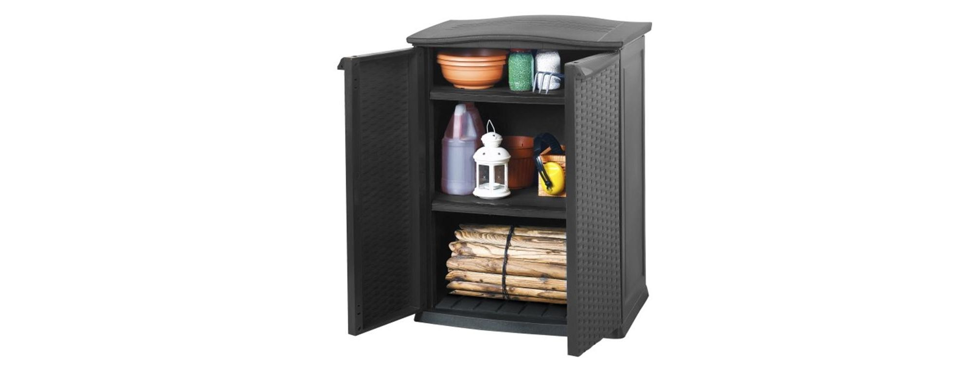 Keter Rattan Style Mini Plastic Shed - Anthracite