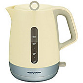 Morphy Richards 101207 Chroma Jug Kettle with Steel Trims - Cream